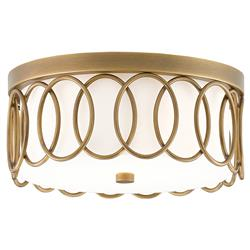 Ayanna Antique Brass Oval Overlap Ceiling Mount | Kathy Kuo Home