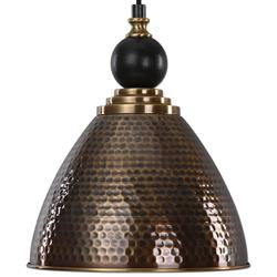 Ayla Global Bazaar Hammered Antique Brass Cone Pendant | Kathy Kuo Home