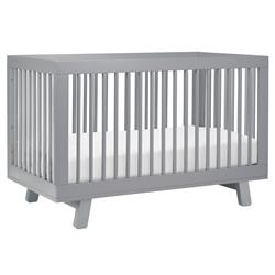 Babyletto Hudson Mid Century Modern Grey Convertible Crib | Kathy Kuo Home
