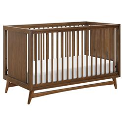 Babyletto Peggy Mid Century Modern Brown Wood Convertible Crib | Kathy Kuo Home