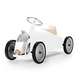 Baghera French Kids White Rider Toy Car | Kathy Kuo Home