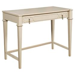 Baptiste French Country Ivory Cloud Vanity Desk | Kathy Kuo Home