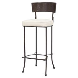 Barton Loft Hand Forged Ivory Iron Counter Stool | Kathy Kuo Home