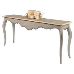 Bastina French Country Grey Reclaimed Wood Cabriole Leg Console Table | Kathy Kuo Home