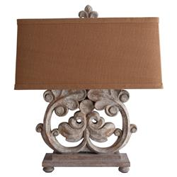 Beatrix French Country Grey Clover Table Lamp | Kathy Kuo Home
