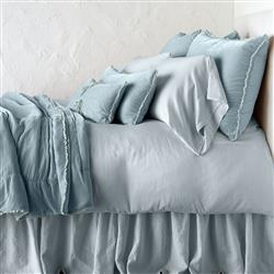 Bella Notte Carmen French Country Silk Velvet Personal Comforter - Cloud | Kathy Kuo Home