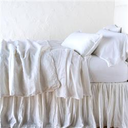 Bella Notte Paloma French Country Personal Comforter - White | Kathy Kuo Home