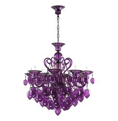 Bella Vetro 8 Light Purple Murano Glass Chandelier
