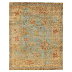 Belmont French Green Beige Oushak Wool Rug - 6x9 | Kathy Kuo Home