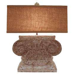 Bianka French Country Doric Column Table Lamp | Kathy Kuo Home