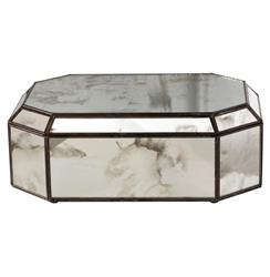 Bishop Hollywood Regency Octagonal Antique Mirror Box | Kathy Kuo Home