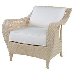 Bismark Ivory Woven Sand Outdoor Lounge Chair | Kathy Kuo Home