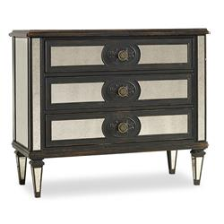 Blaine Modern Classic Mirrored and Ebony Chest of Drawers | Kathy Kuo Home