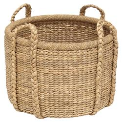 Blossom Coastal Seagrass Braid Hand Woven Basket | Kathy Kuo Home