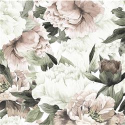 Blush Modern Classic Soft Pastel Floral Removable Wallpaper | Kathy Kuo Home