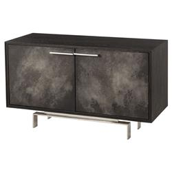 Bodnar Loft Black Oak Charcoal Vellum Small Sideboard | Kathy Kuo Home