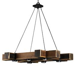 Rustic lodge chandeliers kathy kuo home boondocks rustic lodge chunky wood 6 light chandelier kathy kuo home aloadofball Image collections