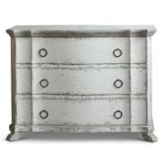 Bordeaux French Country Heavy Distress White Wash Dresser Commode - S