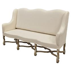 bourgogne french country white upholstered high back bench kathy kuo home