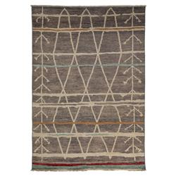 Briar Moroccan Grey Bright Wool Rug - 6'3 x 8'10 | Kathy Kuo Home
