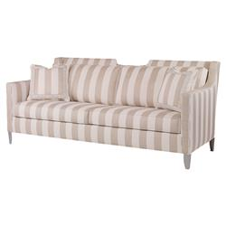 Briggs Coastal Notch Beige Stripe Outdoor Sofa | Kathy Kuo Home