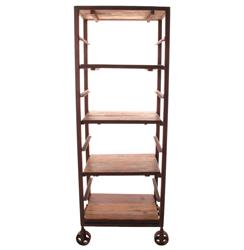 Buttermere Reclaimed Wood Tall Baker's Rack Display Bookcase