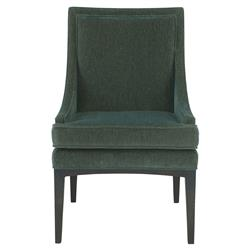 Cacia Modern Classic Emerald Gold Slope Armchair | Kathy Kuo Home