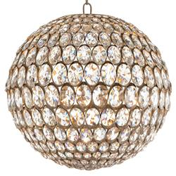 Calla Hollywood Regency Twelve Light Globe Foyer Pendant - Gold | Kathy Kuo Home