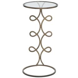 Cara Hollywood Regency Damp Golden Side End Table | Kathy Kuo Home