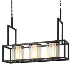 Carducci Modern Classic Crystal Glass Black Chandelier | Kathy Kuo Home