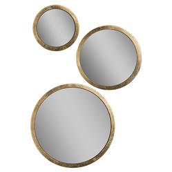 Carolyn Modern Classic Gold Trim Spherical Mirror Set | Kathy Kuo Home