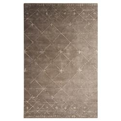 Cassia Modern Santa Fe Rustic Taupe Wool Rug - 5x8 | Kathy Kuo Home