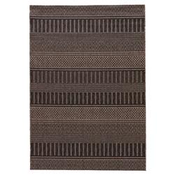 Catrine Tribal Black Woven Metallic Outdoor Rug - 5x7 | Kathy Kuo Home
