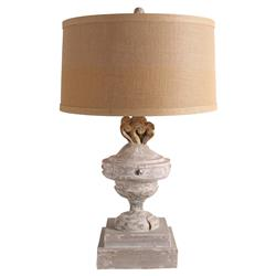 Cecilia French Country Grey Wash Table Lamp | Kathy Kuo Home