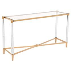 02d7bcbcb922 Cecilia Hollywood Regency Gold Round Glass Stainless Steel Console Table