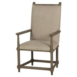Chablis French Vineyard Beige Linen Armchair - Pair | Kathy Kuo Home