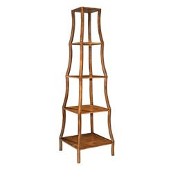 Chamberlain Hollywood Regency Old English 5 Tier Etagere Display Shelf