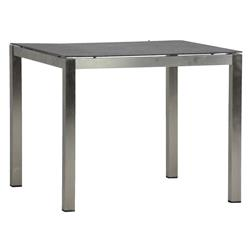 Cirrus Grey Steel Square Outdoor Dining Table - 35.5W | Kathy Kuo Home