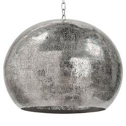 Claesson Industrial Loft Pierced Metal Sphere Pendant | Kathy Kuo Home