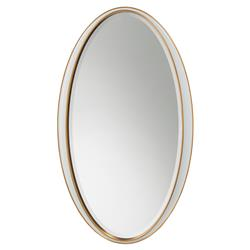 Clark Hollywood Regency White Lacquer Oval Wall Mirror | Kathy Kuo Home