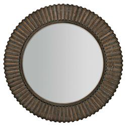 Clarke Modern Classic Solid Ash Inset Beveled Edge Round Wall Mirror | Kathy Kuo Home