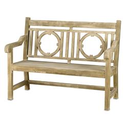 Classic English Garden Outdoor Lesgrave Loveseat Bench | Kathy Kuo Home
