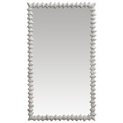 Clyde Oly Frost White Mirror - 42H | Kathy Kuo Home