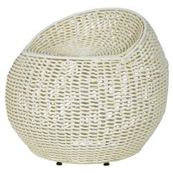 Coastal Beach White Wicker Outdoor Swivel Stool | Kathy Kuo Home  sc 1 st  Kathy Kuo Home : stools and ottomans - islam-shia.org