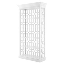 Colliers Modern Classic Piano White 4 Shelved Etagere Display Case | Kathy Kuo Home
