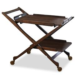 Cooper Hollywood Regency Modern Rolling Bar Cart | Kathy Kuo Home