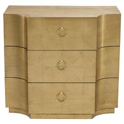 Crawford Gold Leaf Hollywood Maple Veneer Chest | Kathy Kuo Home