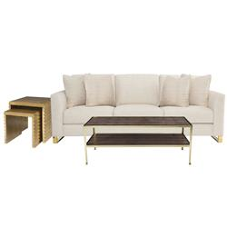 Crawford Modern Classic Living Room Set | Kathy Kuo Home
