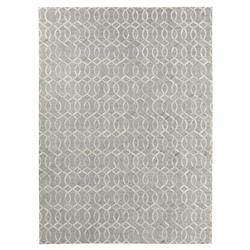 Creston Trellis Silver Stitched Hide Rug - 5x8 | Kathy Kuo Home