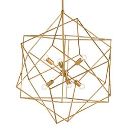 Dade Geometric Modern Gold Cubes Chandelier | Kathy Kuo Home